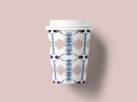 Coffee cup – pattern design