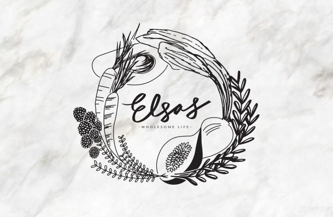 Recent Work: Elsa's Wholesome Life Logo